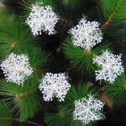 Ozdoby na choinkę - płatki śniegu 6 ks