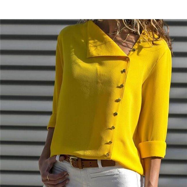 Ženska bluza sa asimetričnim kopčanjem - 7 boja 1