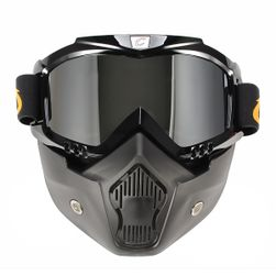 Masca cu ochelari detasabili pentru motosport