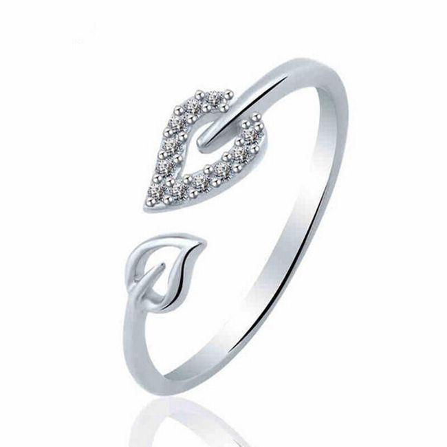 Ženski prsten sa listovima 1