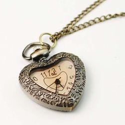 Ceas retro pandantiv în formă de inimă