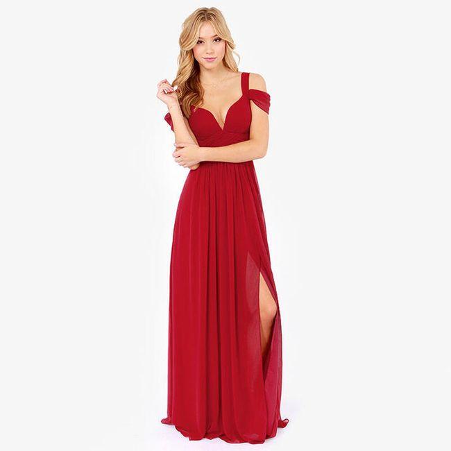 Svečana haljina sa duplim bretelama 1