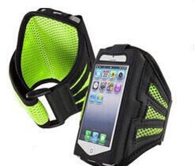 Sportovní pouzdro na ruku pro iPhone 4S - zelené 1
