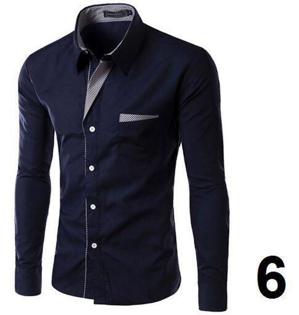 Pánská formální košile s dlouhým rukávem - 6 - velikost 8 1