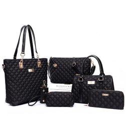 Duży zestaw torebek damskich - 6 części - czarny kolor