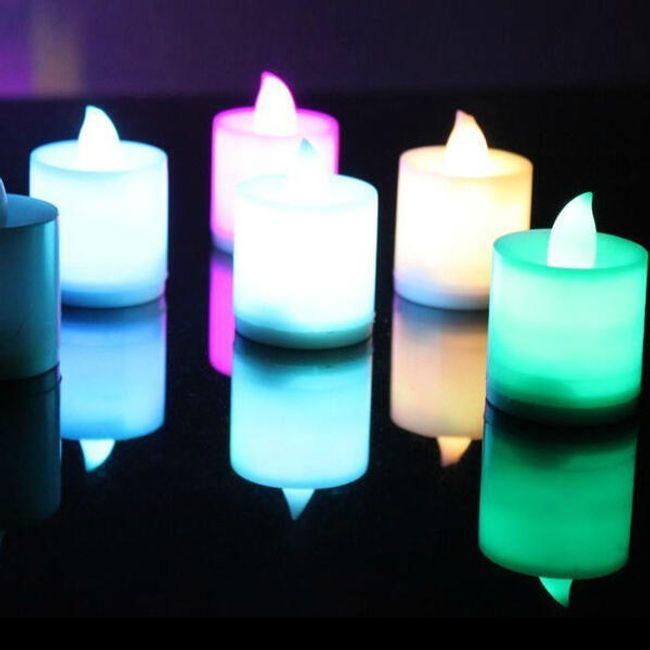 Romantyczna LED świeczka - oferujemy więcej kolorów 1