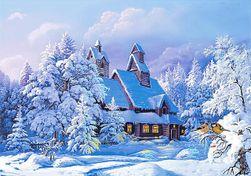5D obraz z kamyków - zimowy krajobraz