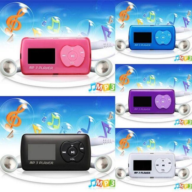 Mini Mp3 přehrávač na paměťovou kartu - 5 barev 1