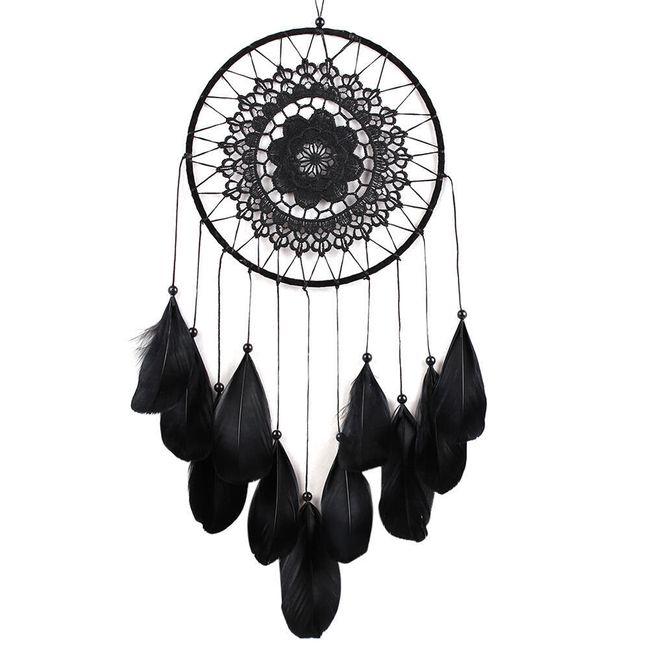 Indiánský lapač snů - černý 1
