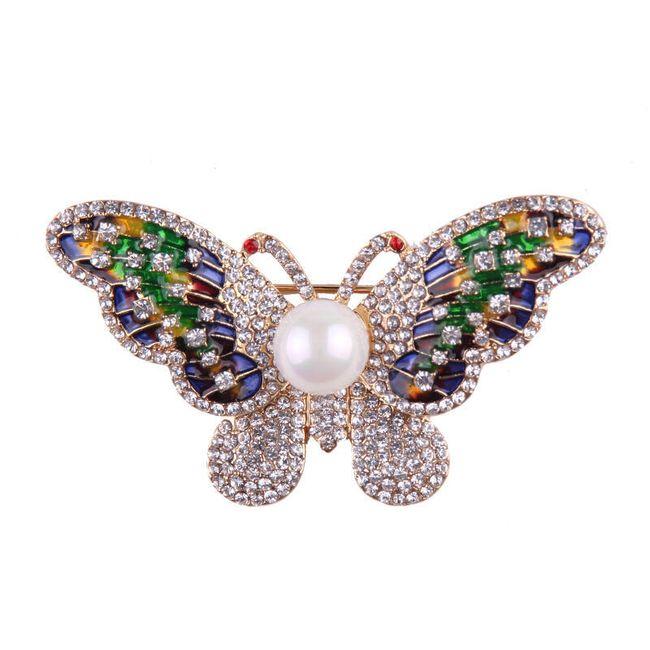 Detailní motýlí brož 1