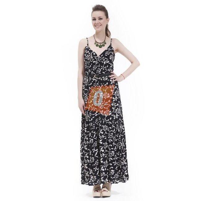 Dámské letní šaty s květinovým vzorem - vel. L 1