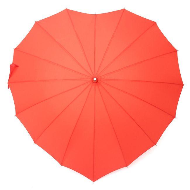 Зонт в форме сердца- красный 1