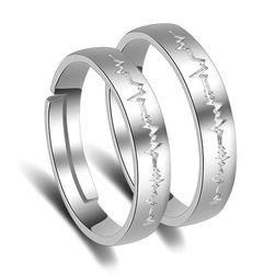 Prsten sa izrezom u obliku srčanog pulsa