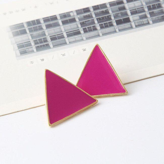 Trojúhelníkové náušnice - 6 barev 1