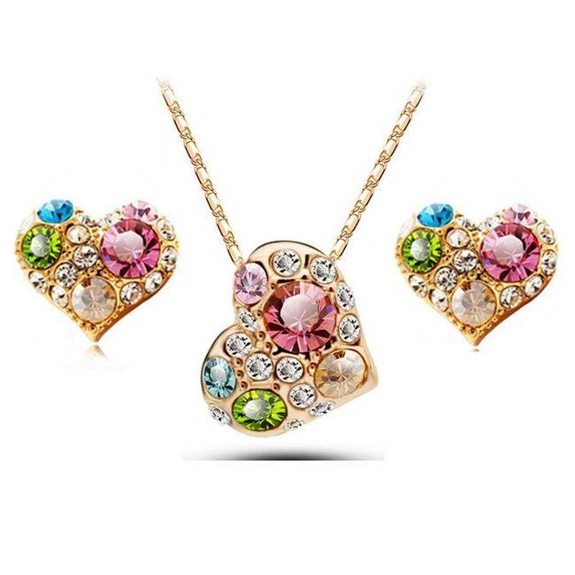 Sada šperků - srdíčka 1