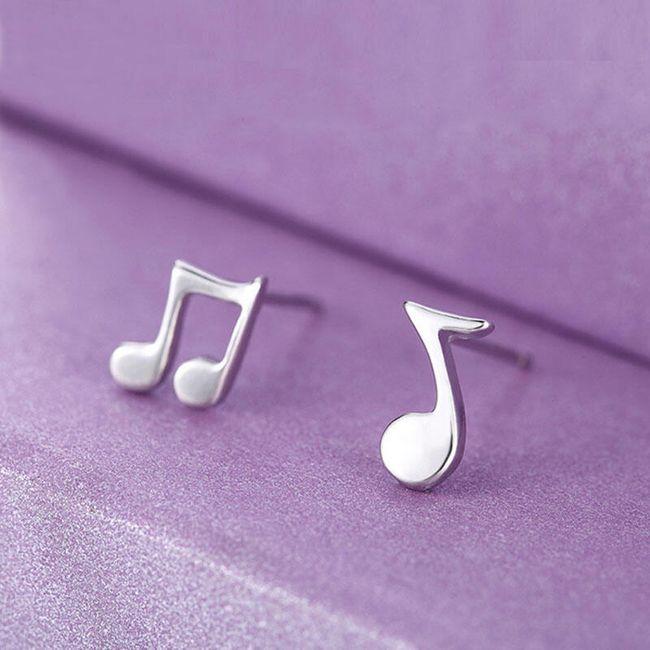 Cercei asimetrici - note muzicale 1