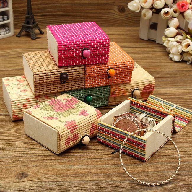 Cutie de bijuterii din lemn de bambus 8