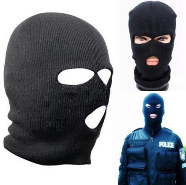 Maska za obraz - črna 1