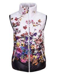 Dámská vesta s květinami  - 4 varianty