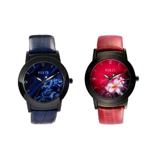 Dámská náramkové hodiny s motivem květin - ve 2 barvách 1