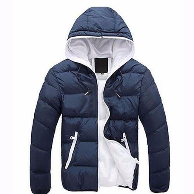 Pánská lehká bunda Santo s kapucí - Tmavě modrá - velikost č. M 1