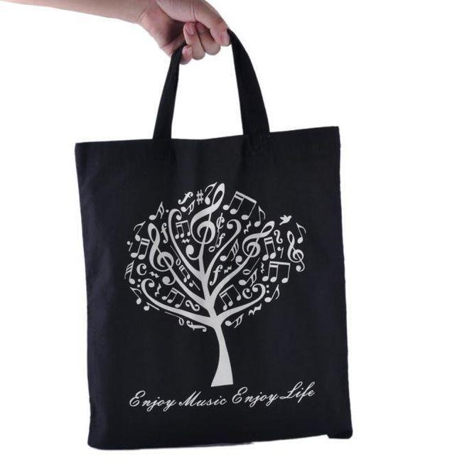 Plátěná nákupní taška pro milovníky hudby - 6 variant 1