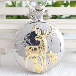 Джобен часовник с ловджийски мотиви
