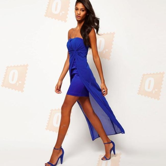 Dámské moderní šaty - modré 1