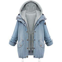 Džínová bunda s kapucí - 6 velikostí