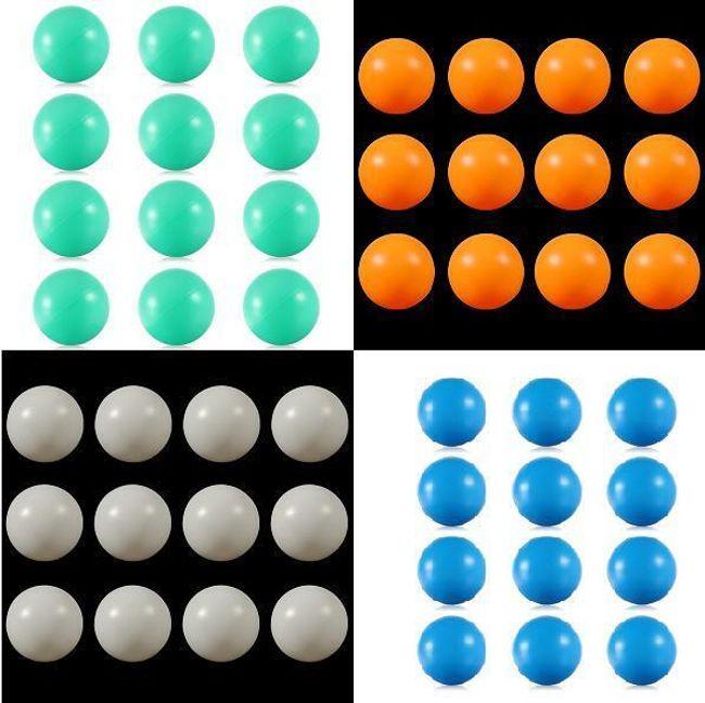 Pingpongové míčky 50 kusů - na výběr ze 4 barev 1