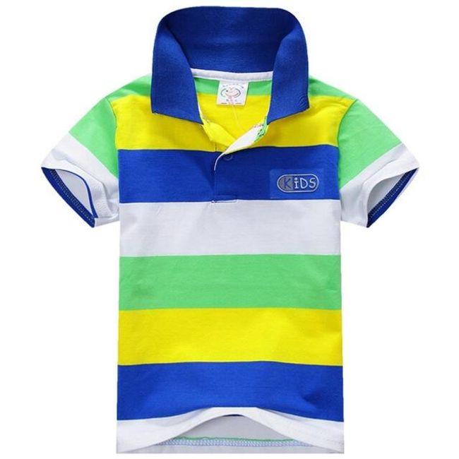 Tričko s barevnými proužky pro kluky 1