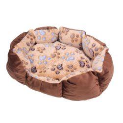 Krevet za mačke i pse u smeđoj boji