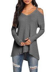 Ženski lagani džemper sa otkrivenim ramenima - 3 boje