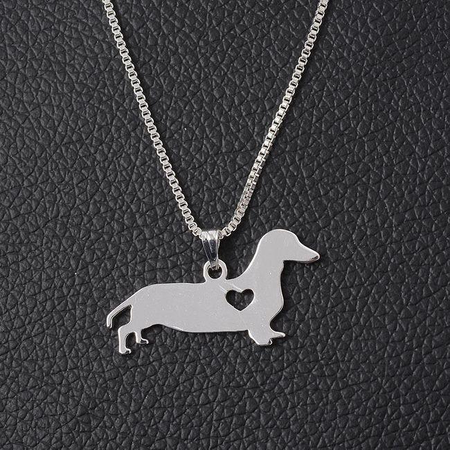 Ogrlica z motivi različnih pasem psov -  Jazbečar 1