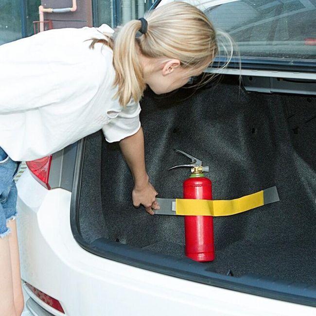 Elastický pás na suchý zip do kufru auta 1