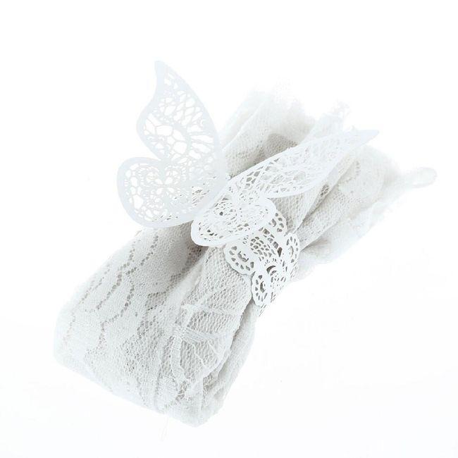 Motýlí ozdoba na ubrousky - 12 ks 1