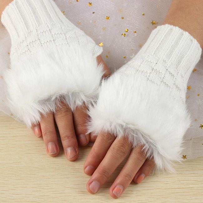 Krznene rukavice bez prstiju 1