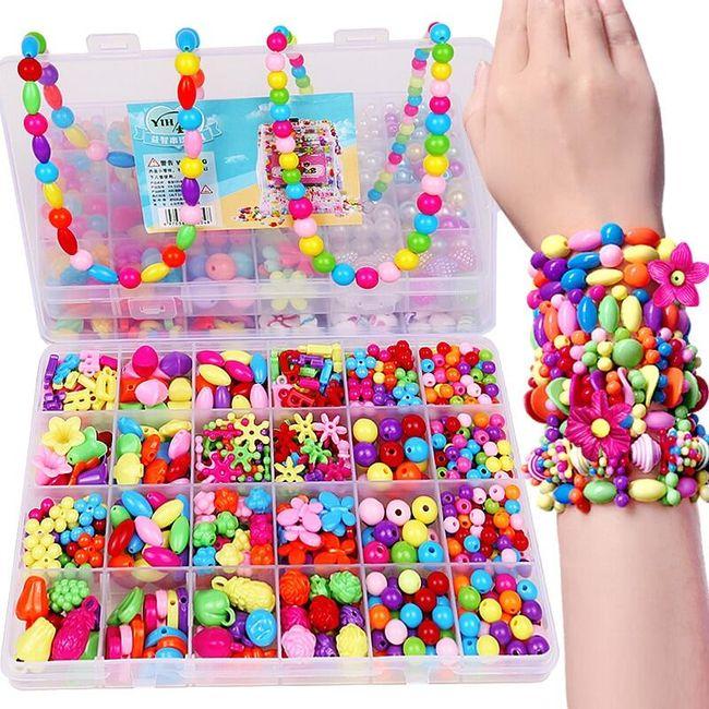 Sada dívčích korálků na výrobu šperků - různé varianty 1