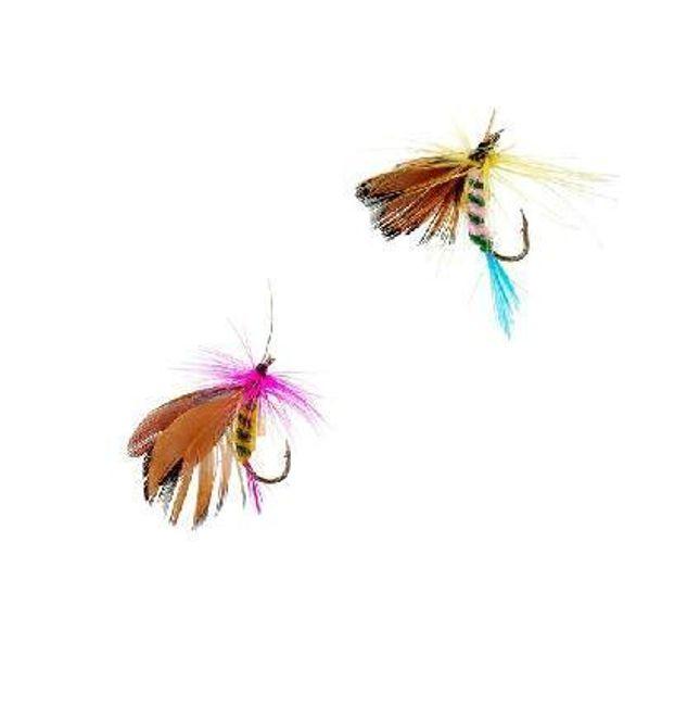 Sada 12 kusů barevných rybářských mušek 1