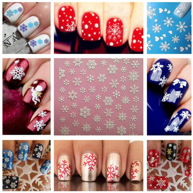 Naljepnice za nokte sa zimskim motivima 1