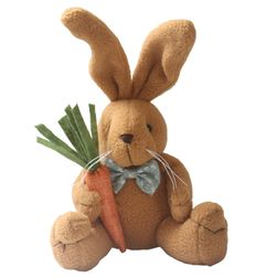 Мягкая игрушка, Зайчик с морковкой- 2 варианта