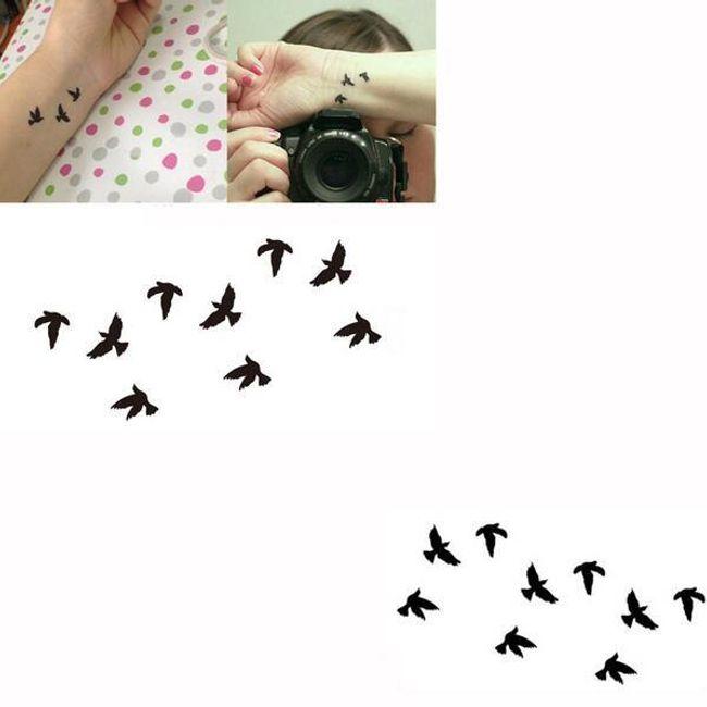 Переводная татуировка с мотивом Птиц 1