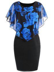 Dámské šaty Ericka v plus size velikostech-Tmavě modrá-XL/2XL