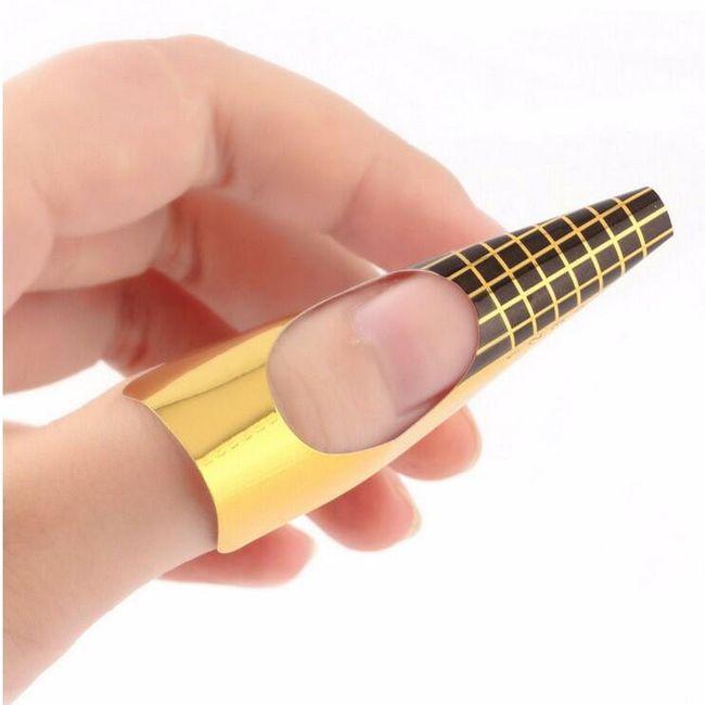 Šablone za izdelavo gelnih nohtov - zlata barva 1