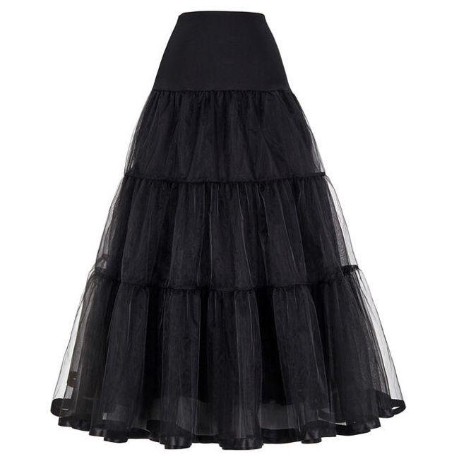 Tylová maxi spodnička - Černá-velikost č. 4 1