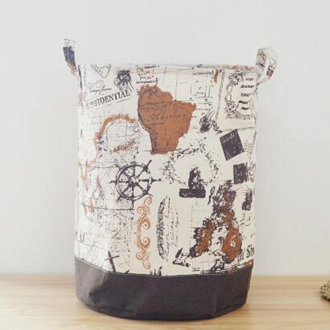 Úložný koš na oblečení s potiskem mapy 1