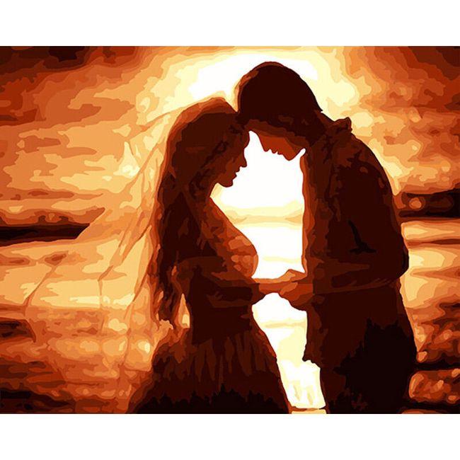 Snoubenci - malování podle čísel 1