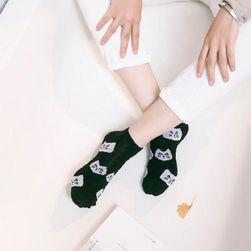Kotníkové ponožky s kočkami - 6 variant