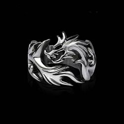 Pánský prsten s drakem