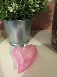 Ružičasta svijeća u obliku srca IV_1599735824